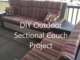 Outdoor Sectional Sofa Diy Outdoor Sectional Couch Project Youtube