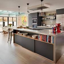 kitchen island with shelves direct and indirect lighting for kitchen fresh design pedia kitchen