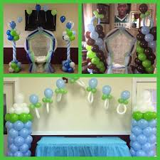 Balloon Decoration For Baby Shower Tonz Of Fun Entertainment Baby Shower Balloon Decor