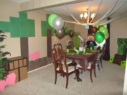 Home Made Party Decorations Brave Homemade Minecraft Party Decoration Ideas About