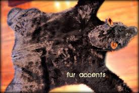 Wolf Area Rugs by Fake Black Bear Skin Rug Black Faux Fur Accent Rug Fake