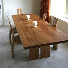 Oak Dining Table Uk Modern Oak Refectory Table And Plank Back Chairs