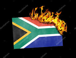 Image Of South African Flag Flag Burning South Africa U2014 Stock Photo Michaklootwijk 63678073