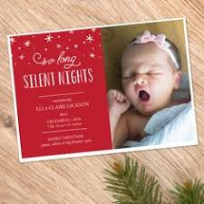holiday birth announcement christmas new years the best gift