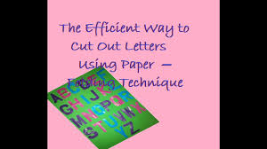 the efficient way to cut out letters using paper folding