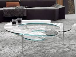 Unique Glass Coffee Tables - coffee table fascinating spiral glass coffee table square spiral