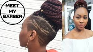 box braids on shaved hair meet my barber box braids with shaved sides on natural hair