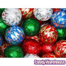 foiled milk chocolate ornaments 2lb bag