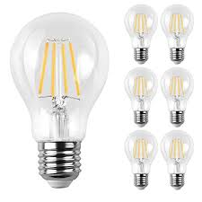 ascher e12 led classic candelabra clear light bulb 4w