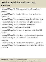 Mailroom Clerk Job Description Resume by Top 8 Mailroom Clerk Resume Samples