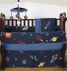 space galaxy rocket ship bedding and room decor