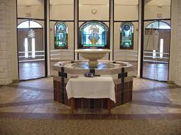 church baptistry church interior santa catholic church buda tx
