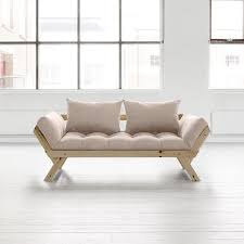 delamaison canapé canapé convertible en bois bebop karup avec matelas futon prix