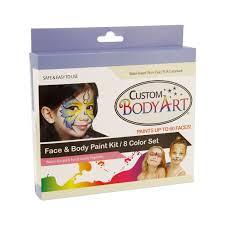 Baby Safe Halloween Makeup 8 Color Boys Animal Face Paint Painting Kit Kids Makeup Set By