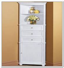 Bathroom Floor Storage Cabinets White Sophisticated Terrific White Corner Bathroom Cabinet Wall On