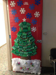 Christmas Office Door Decorations 29 Best Christmas Door Decorations Images On Pinterest Christmas