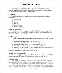 book report template 5th grade report outline template 10 free free word pdf format