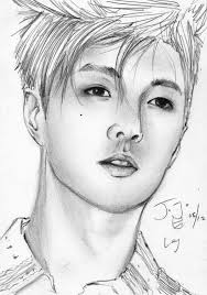 exo m lay pencil sketch by takojojo15 on deviantart