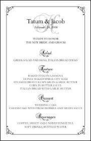 wedding menu template menus templates free carbon materialwitness co
