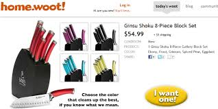 ginsu shoku 8 piece knife block set for 59 99 shipped u2013 walletup com