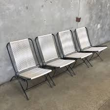 Patio Steel Chairs by Vintage Mid Century Tubular Steel Folding Patio Chairs