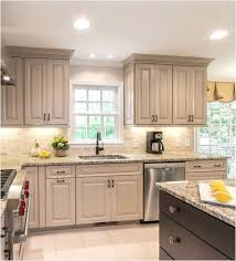 white and taupe lower kitchen cabinets taupe kitchen cabinets centsational style