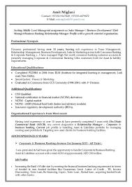 Commercial Banker Resume Relationship Manager Corporate Banking Job Description Resume Sample