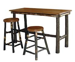High Bar Table Set Hickory Rectangle Pub Table
