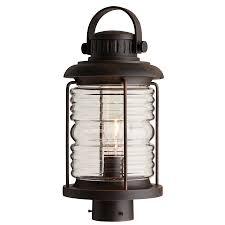 allen roth stonecroft ceiling fan shop allen roth stonecroft 16 65 in h aged bronze post light at
