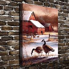haven home decor a755 terry redlin winter haven animal scenery hd canvas print