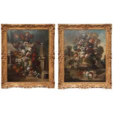 large oval french 18th century genre painting for sale at 1stdibs