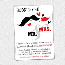 couples shower bridal shower couples wedding shower invitations card