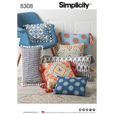 Sewing Patterns For Home Decor Simplicity 8308 Pillows