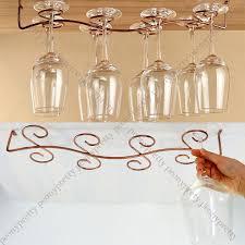 6 8 wine glass rack stemware hanging under cabinet holder w