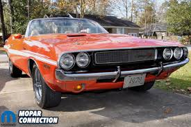 dodge challenger years orange crush al caponigro s 1970 dodge challenger r t convertible
