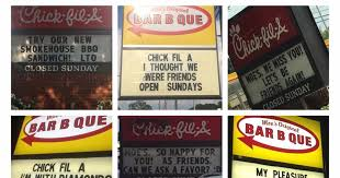 fil a in sign war with bbq joint and local club