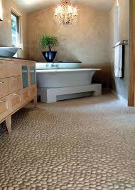 home design and decor natural pebble floor tiles bathroom with