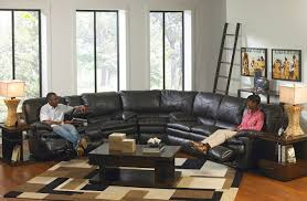 Sectional Sofas With Recliners And Cup Holders Reclining Sectional Couches Brown Leather Sectional Recliners