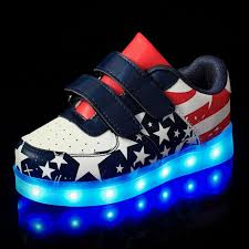 shoes with lights on the bottom bbx brand kid usb charging led light shoes soft leather casual boy