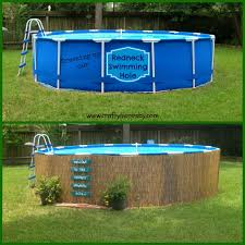 Backyard Pools Tupelo Ms by Above Ground Swimming Pool Light Bamboo Around The Perimeter Is