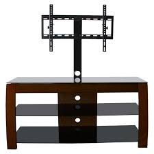 Dark Wooden Tv Stands Rectangle Dark Brown Wooden Tv Stand With Black Glass Shelves And