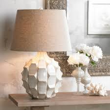 White Table Lamps Cosgrove Mid Century White Ceramic Table Lamp Amazon Com