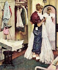 marmont hill prom dress by norman rockwell painting print on