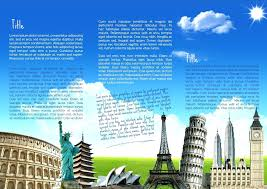 travel and tourism brochure templates free template create a newsletter template