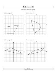 reflection geometry worksheet worksheets