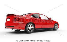 si e auto sport auto sport rotes seite hintere ansicht stock illustration