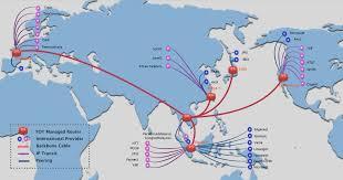 Thailand World Map by Tot International Internet Gateway