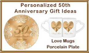 50th anniversary plate personalized personalized 50th wedding anniversary gifts for couples