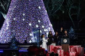 national christmas tree lighting 2016 president barack and michelle obama attend their final national
