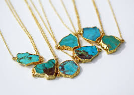 turquoise necklace images Raw turquoise necklace kei jewelry JPG